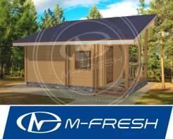 M-fresh проект Бани эконом из бруса с парной и моечной. до 100 кв. м., 1 этаж, 1 комната, дерево
