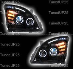 Оптика (фары) Toyota Land Cruiser Prado 120 с ангельскими глазками + л