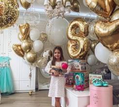 Оформление детского праздника, фотозона воздушными шарами, торжество