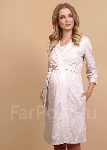 302545f12675 Комплект для роддома (сорочка и халат) для беременных 44, 48 ...