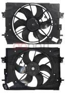 Диффузор радиатора в сборе RENAULT LOGAN/SANDERO 14-/KAPTUR 16-/DUSTER 13-/LADA X-RAY 15-/VESTA 15- SAT ST-DC02-201-0
