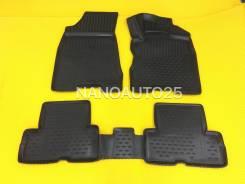 Модельные коврики 3D ванночки Nissan X-Trail T31 (07-13) Правый руль