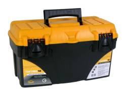 Ящик для инструментов Титан 18 43 х 23,5 х 25 см черный с желтым