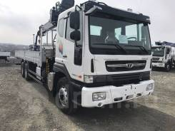 Daewoo Novus. 15.5 тонн HIAB 190 (7тонн), 10 964куб. см., 6x4