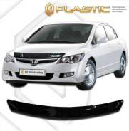 Дефлектор капота Honda Civic 4D 2006-2011 (Мухобойка) 070