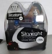 Комплект ламп галогенных Solarzen/Skylight H11 12V 55W +90%, 4000K H11 12V 55W +90%