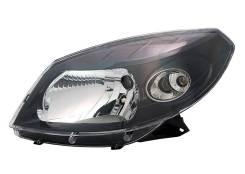 Фара (черная) Renault Sandero 10-14г