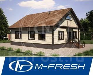 M-fresh Secret (Готовый проект одноэтажного дома с 3 спальнями! ). 100-200 кв. м., 1 этаж, 4 комнаты, бетон