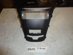Накладка центральной консоли под магнитолу [8910034010HDX] для SsangYong Actyon II