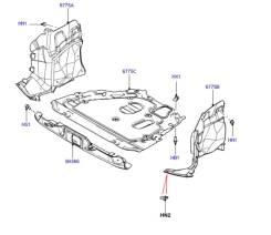 Защита двигателя, правая Land Rover Freelander2, 07-10