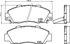 Колодки тормозные. Honda: Rafaga, Accord, Ascot, Inspire, Civic, Vigor, Shuttle, Accord Aerodeck, Prelude, HR-V, Avancier, CR-V, Odyssey, Legend, Sabe...