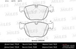 Колодки тормозные. BMW X6, E71, E72, F16, F86 BMW X5, E70, F15, F85 M57D30TU2, N54B30, N55B30, N57D30L, N57D30OL, N57D30S1, N57D30TOP, N57S, N63B44, S...