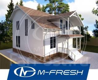 M-fresh Handy (Покупайте сейчас проект со скидкой 20%! ). 200-300 кв. м., 2 этажа, 5 комнат, бетон