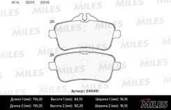 Колодки тормозные задние (Low-Metallic) Miles E410451 E410451