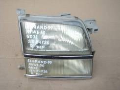 Фара правая Nissan Elgrand AVWE50 QD32.