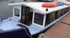Аренда катера плавучей беседки. 18 человек, 10км/ч