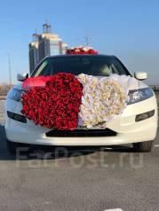 Украшение на машину, свадебный декор, украшение бокалов