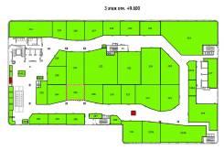 """ТРЦ """"Черёмушки"""" предлагает в аренду торговую площадь во Владивостоке. 55,0кв.м., улица Черемуховая 15, р-н Чуркин. План помещения"""