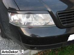 Защита фар прозрачная. Audi A6, 4A2, 4A5, 4B2, 4B4, 4B5, 4B6 1Z, AAE, AAH, AAR, AAT, ABC, ABK, ACE, ACK, ADR, AEL, AHU, AEB, AFB, AFN, AGA, AHA, AJK...