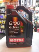 Motul 8100 X-Clean. 5W-30, синтетическое, 5,00л.