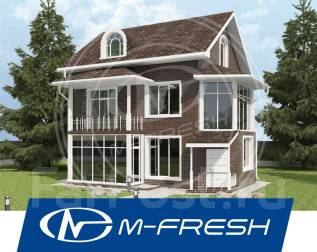 M-fresh Florentin (Проект дома из бруса с деревянными балками). 300-400 кв. м., 2 этажа, 6 комнат, дерево