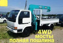 Nissan Atlas. 4WD, эвакуатор 4 тонны, 4 200куб. см., 4 000кг., 4x4