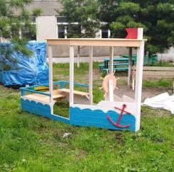 Площадка детская из натуральной древесины
