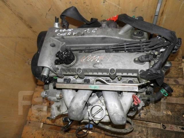 Двигатель E4G16 Chery 1.6B с навесным