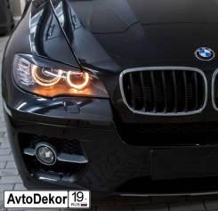 Защита фар прозрачная. BMW X6, E71, E72 M57D30TU2, N55B30, N57D30OL, N57D30TOP, N57S, N63B44, S63B44, N54B30, S63B44TX