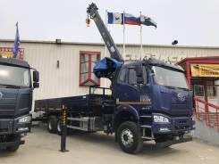 Hiab. Бортовой автомобиль FAW c КМУ HIAB 190TM-6, 6x4