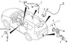 Система бесключевого доступа (комплект) Mitsubishi Outlander XL 2006