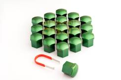 Колпачки пластиковые под 19 ключ, (Комплект 20шт.+ зажим) высокие ЗЕЛЕНЫЙ МЕТАЛЛИК Арт. С19Н DGM