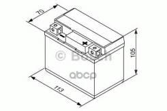 Акб M6 009 12v 7ah 110a 113x70x105 /- / Bosch арт. 0092m60090