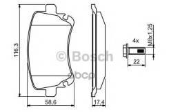 Тормозные Колодки 0986494303 Bosch арт. 0986494303