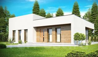 Проект дома в стиле Хай-Тек. 100-200 кв. м., 1 этаж
