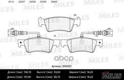 Колодки Тормозные Volkswagen Touareg 02-10 Задние С Датч. Lowmetallic Miles арт. E410321