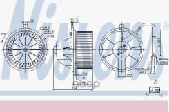 Вентилятор Отопителя Салона Audi A4 94- Nissens арт. 87068