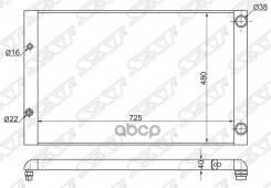 Радиатор Audi A8 3,7/4,2 03- Sat арт. AD0008-1