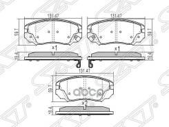 Колодки Тормозные Перед Chevrolet Camaro V 11-/Malibu V300 12-/Opel Insignia 08-/Saab 9-5 10- Sat арт. ST-13237750
