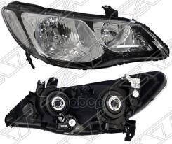 Фара Honda Civic 05-11 4d Под Эл. Корректор, Поворот Белый Sat арт. ST-217-1159R