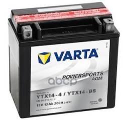 Аккумуляторная Батарея! Powersportsagm Рус 12ah 200a 152/88/147 Ytx14-Bs Moto Varta арт. 512014010 512014010_