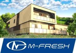 M-fresh Brigantina (Готовый проект современного дома на склоне у моря). 300-400 кв. м., 2 этажа, 5 комнат, бетон