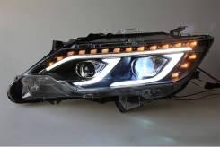 Тюнинг фары на Toyota Camry V50/55 2015 стиль Mercedes