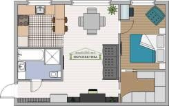 2-комнатная, улица Площадь Ленина 5. центр, агентство, 43,0кв.м.