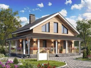Каркасный дом 108м2. 100-200 кв. м., 2 этажа