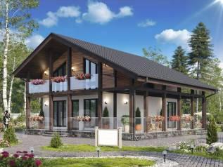 Проект двухэтажного дома 144м2. 100-200 кв. м., 2 этажа, каркас