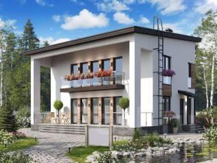 Проект двухэтажного дома 154м2. 100-200 кв. м., 2 этажа, каркас