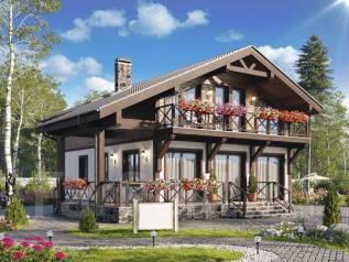 Проект двухэтажного дома 160м2. 100-200 кв. м., 2 этажа, каркас