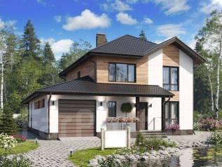 Проект двухэтажного дома 215м2. 200-300 кв. м., 2 этажа, каркас