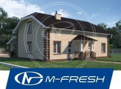 M-fresh Oazis (Готовый проект дома с наружной лестницей на мансарду! ). 200-300 кв. м., 2 этажа, 9 комнат, кирпич